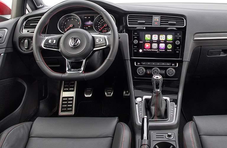 2018 Volkswagen Golf GTI interior front seat steering wheel and dash