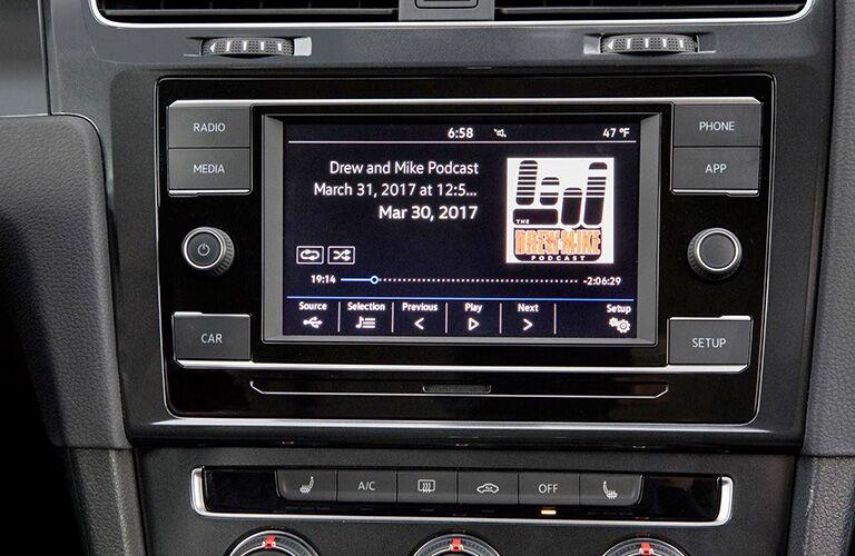 Multimedia infotainment system in the 2018 VW Golf SportWagen