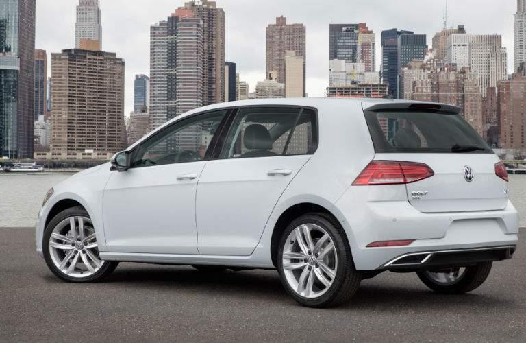 2018 Volkswagen Golf white exterior back view