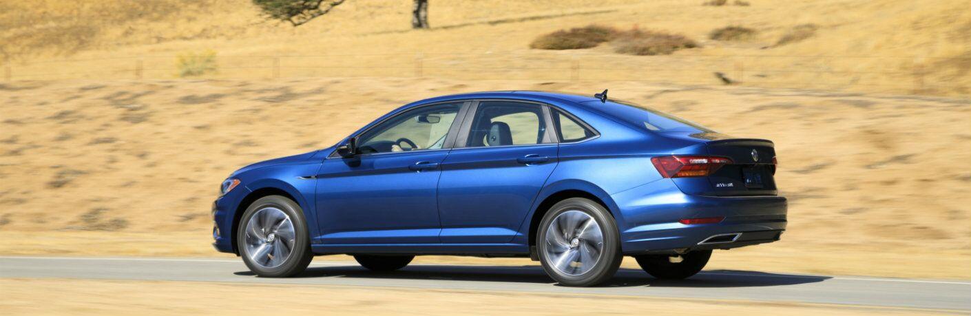 2019 Volkswagen Jetta driving through desert