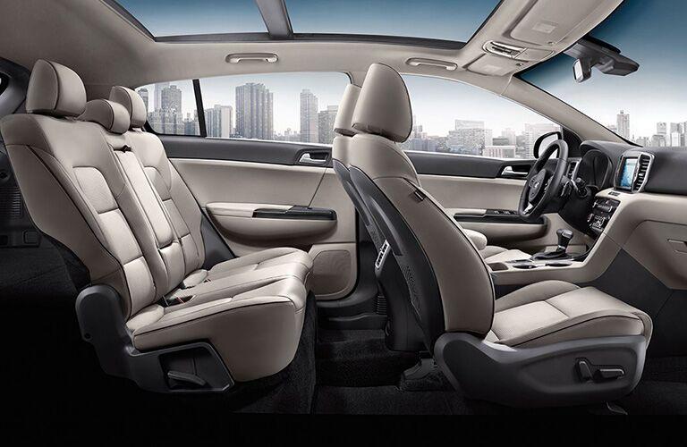 Interior view of 2019 Kia Sportage