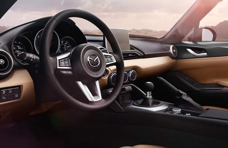 2017 Mazda MX-5 Miata front dash and steering wheel