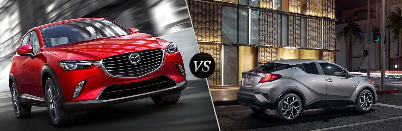 A side-by-side comparison of the 2018 Mazda CX-3 vs. 2018 Toyota C-HR.