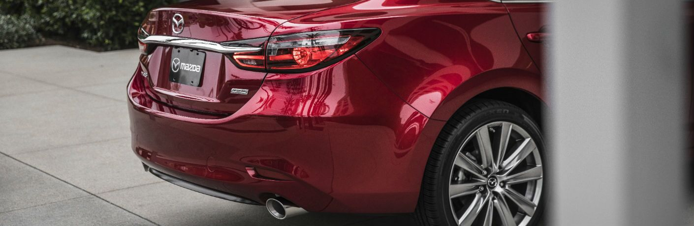 A photo of the rear decklid of the 2018 Mazda6.
