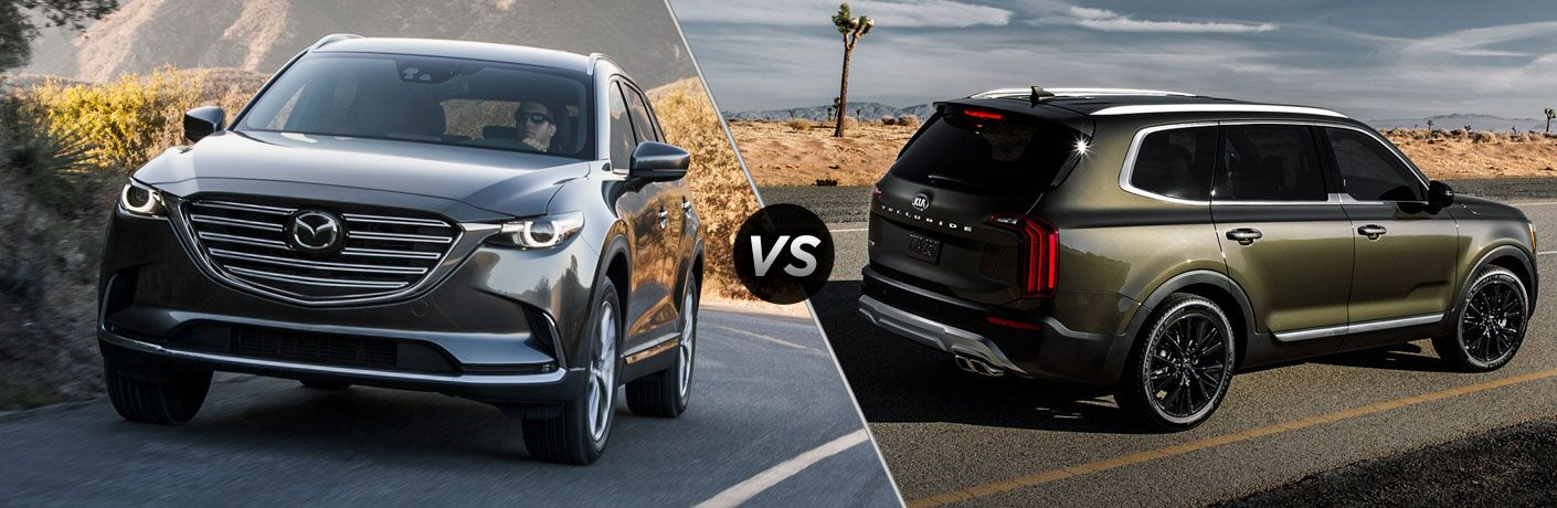 A side-by-side comparison of the 2019 Mazda CX-9 vs. 2020 Kia Telluride.