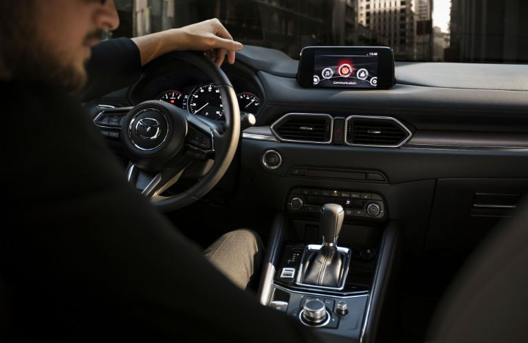 An interior photo of the 2019 Mazda CX-5 and its new technology.