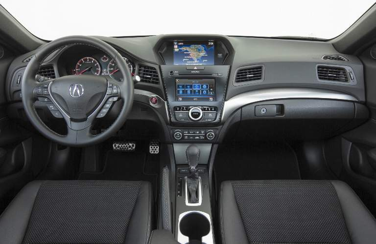 2018 Acura ILX steering wheel and dashboard