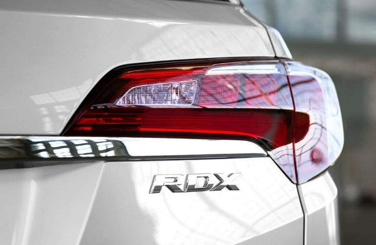2018 acura rdx tail light close up