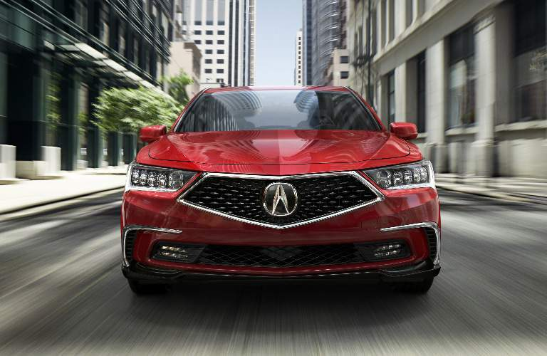 red 2018 Acura RLX front grille design