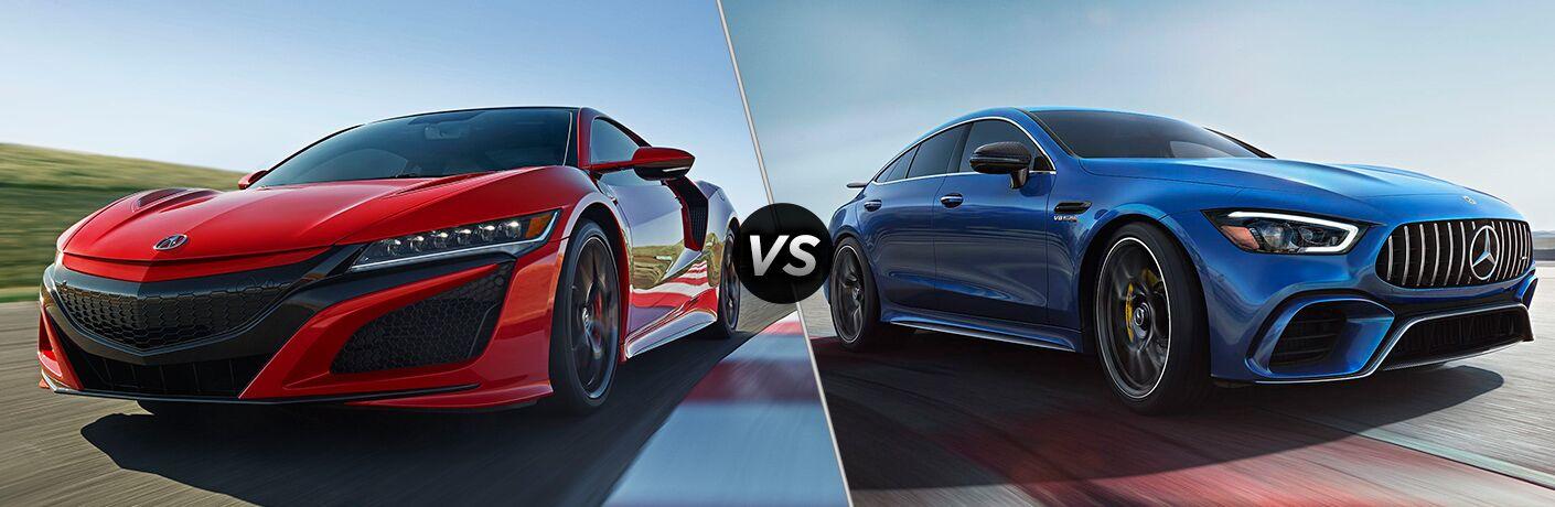 2019 Acura NSX vs 2018 Mercedes-Benz AMG GT