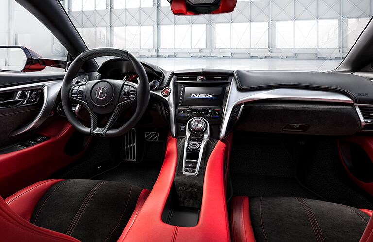 2019 Acura NSX driver interior looking out windshield