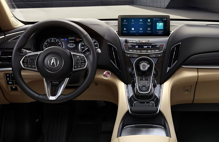 2019 Acura RDX front row seats and dashboard