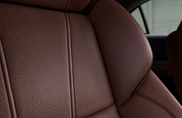2019 Acura TLX leather seat close up