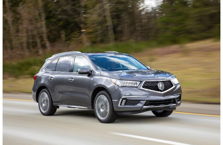 2020 Acura MDX driving on the highway