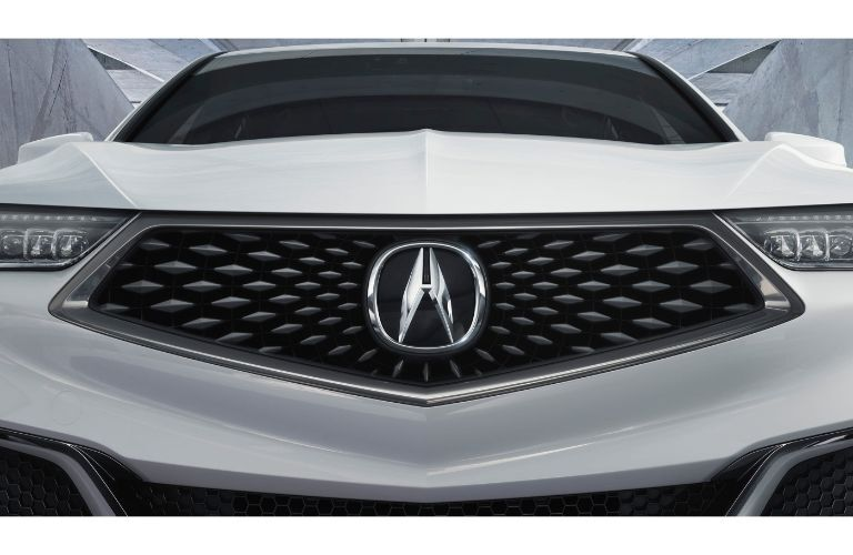 2020 Acura TLX close up of the front grille