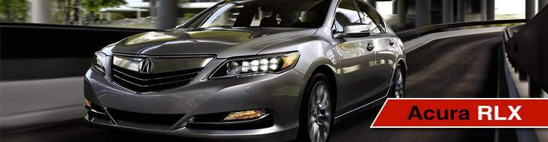 acura rlx front view of grille and headlights