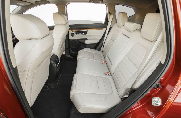 back seats with tan trim in 2018 Honda CR-V