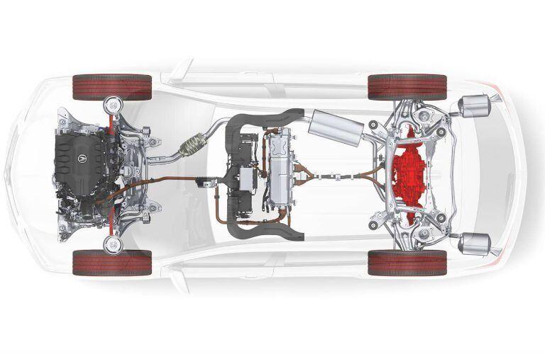 2017 Acura MDX Hybrid Underpinings