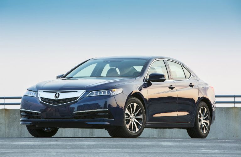 blue 2017 Acura TLX