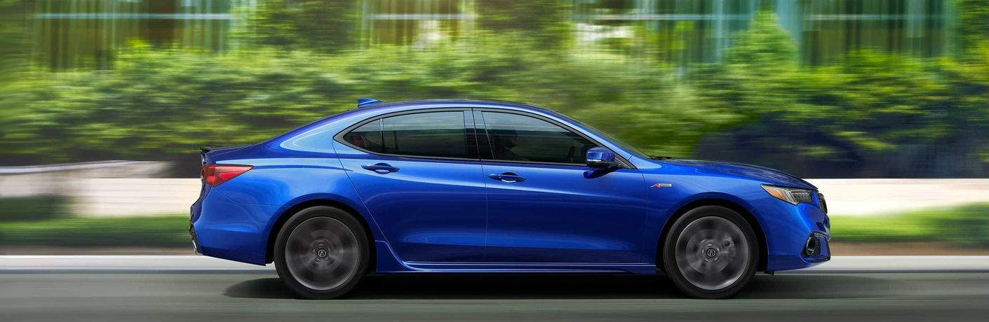 Side Profile Blue 2018 Acura TLX A-Spec