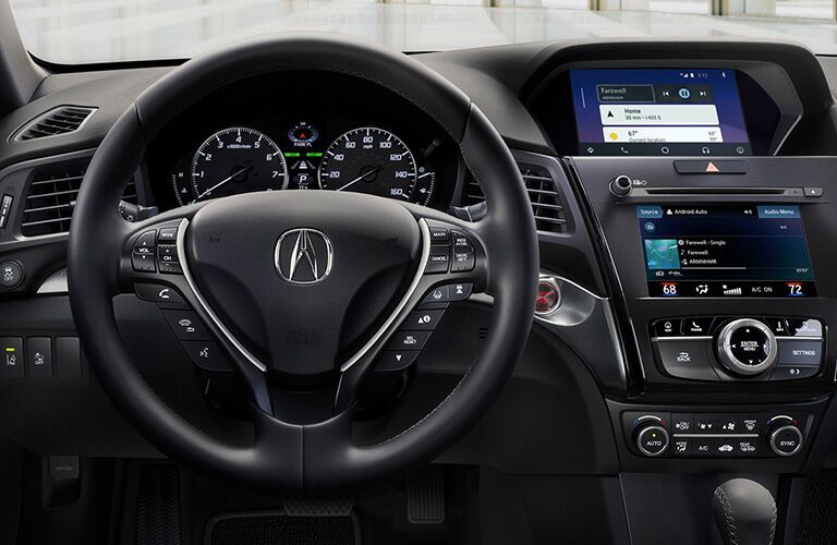 Steering wheel and dashboard of the 2019 Acura ILX