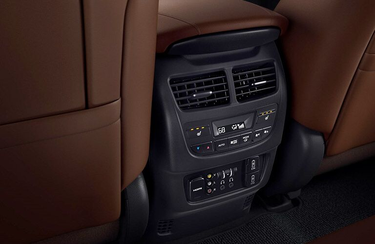2019 Acura MDX Technology Package interior second row controls