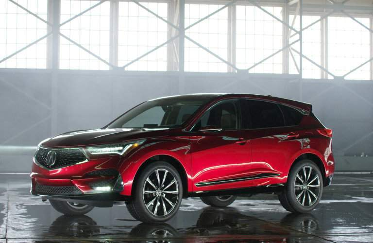 3/4 front view of the 2019 Acura RDX Prototype
