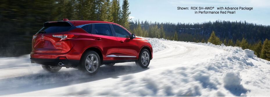 Shown:RDX SH-AWD® with Advance Package in Performance Red Pearl