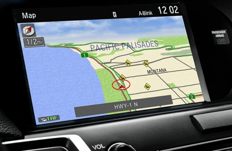 2019 Acura RLX Technology Package navigation