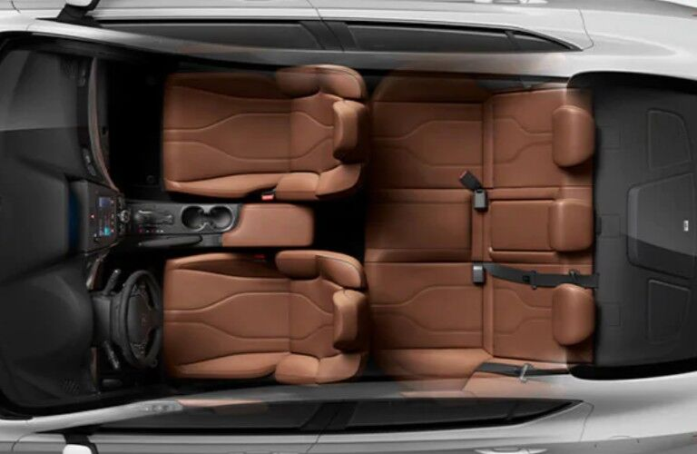 Aerial angle of the Milano leather seats inside the 2020 Acura ILX Premium Package