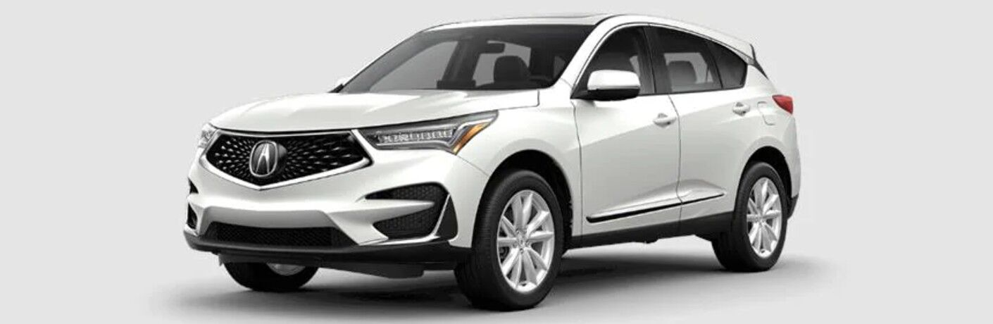 White 2020 Acura RDX Advance Package on a grey background