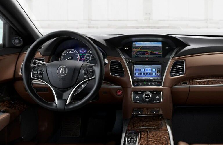 Front interior in the 2020 Acura RLX Technology Package