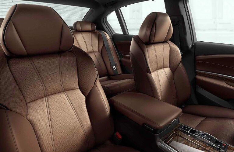 Perforated Milano leather seats in the 2020 Acura RLX