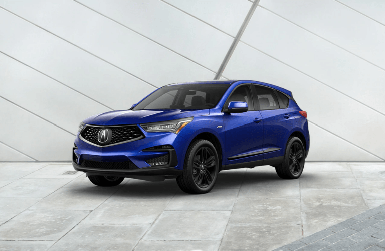 2020 Acura RDX full view in blue