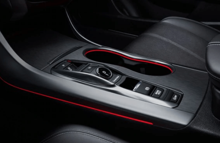 2020 Acura TLX A-Spec Package gear shifter and cup holders