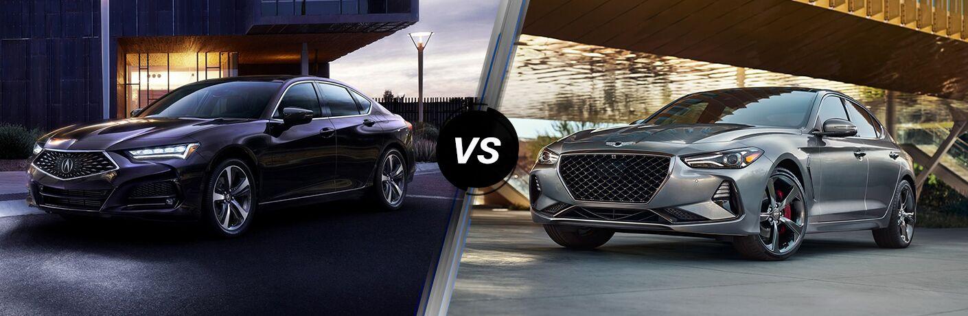 2021 Acura TLX vs 2021 Genesis G70