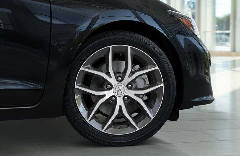 Wheel on a black 2021 Acura ILX Premium Package