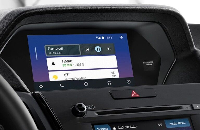 Infotainment system inside the 2021 Acura ILX Premium Package
