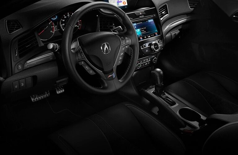 Front interior in the 2021 Acura ILX