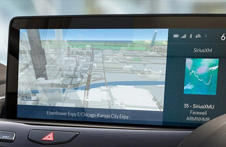 Close up of the navigation system in the 2021 Acura RDX Technology Package