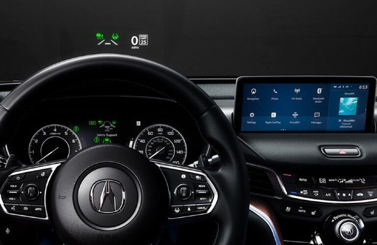 Touchscreen and head-up displays in the 2021 Acura TLX Advance Package