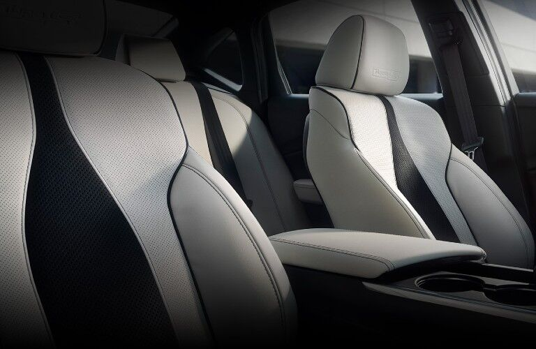 Front seats inside the 2021 Acura TLX Type S