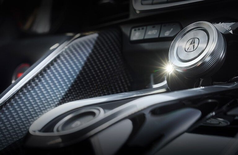 Carbon fiber trim inside the 2021 Acura TLX Type S