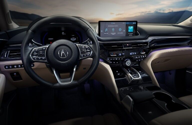 Front interior inside the 2022 Acura MDX