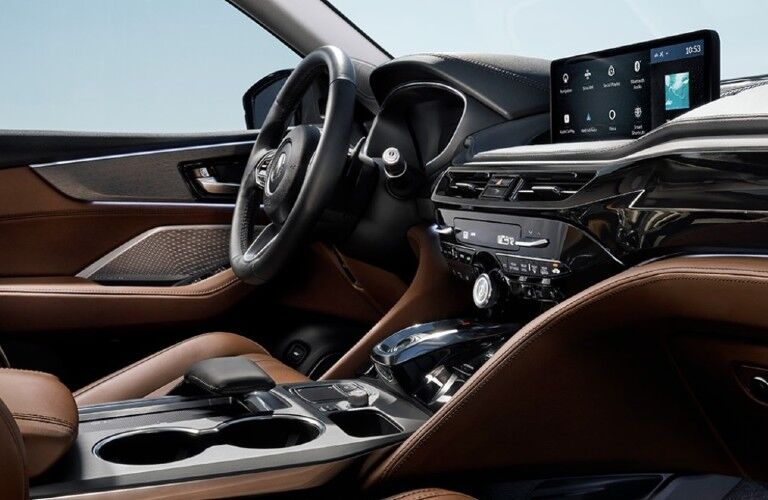 Front interior inside the 2022 Acura MDX Advance Package