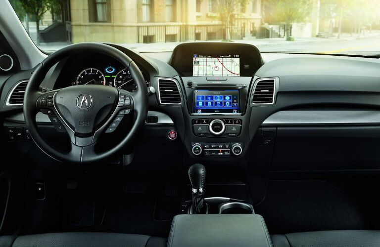 Front interior of the 2017 Acura RDX