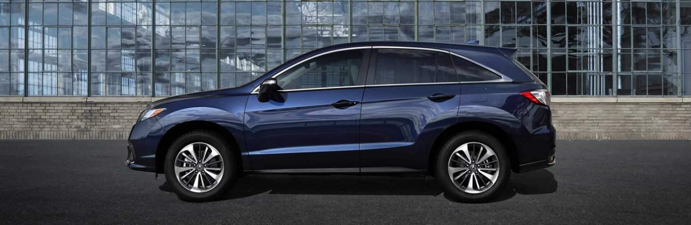 Blue 2018 Acura RDX side profile
