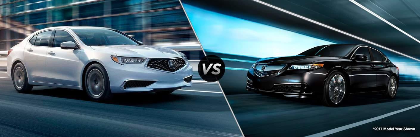 2018 Acura TLX vs 2017 Acura TLX
