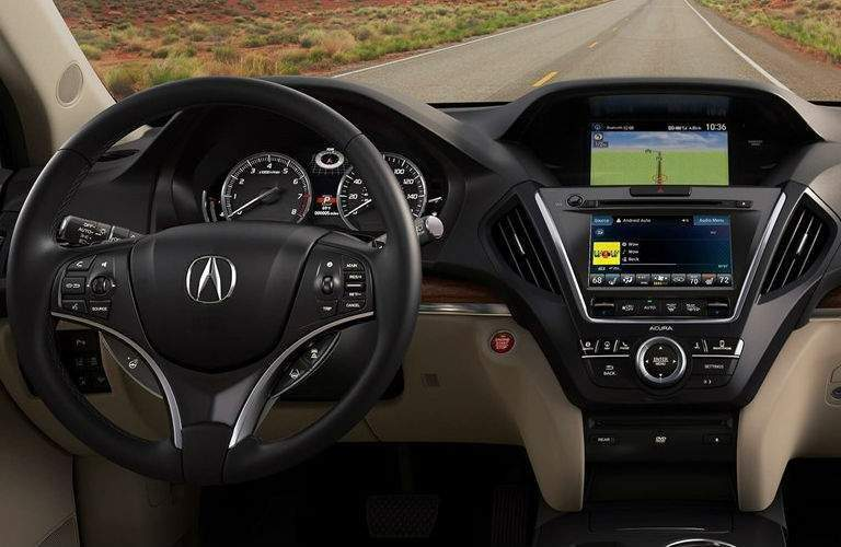 Dashboard in the 2018 Acura MDX