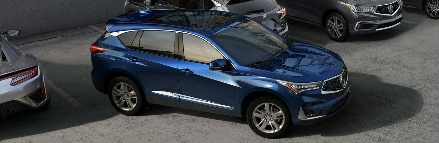 2019 Acura RDX in blue metallic